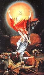 Matthias Grünewald: Auferstehung Christi (1510)