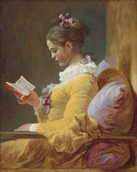 """A young girl reading"" af Jean-Honoré Fragonard (1770)"