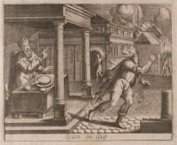 Lycaon, der flygter fra Zeus efter sin forvandling