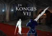 Den første forside til den danske udgave af En konges vej viste lejemorderen Szeth (i hvidt) og kong Gavilar