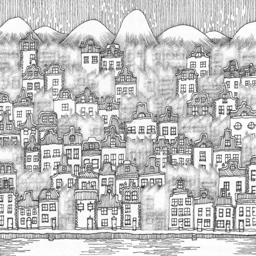 Warwick Mihalys illustration af de to dobbeltbyer