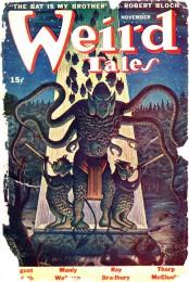 Forsidebilledet til Weird Tales i november 1944.