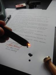 Optagelsesbrev til Roevel akademi