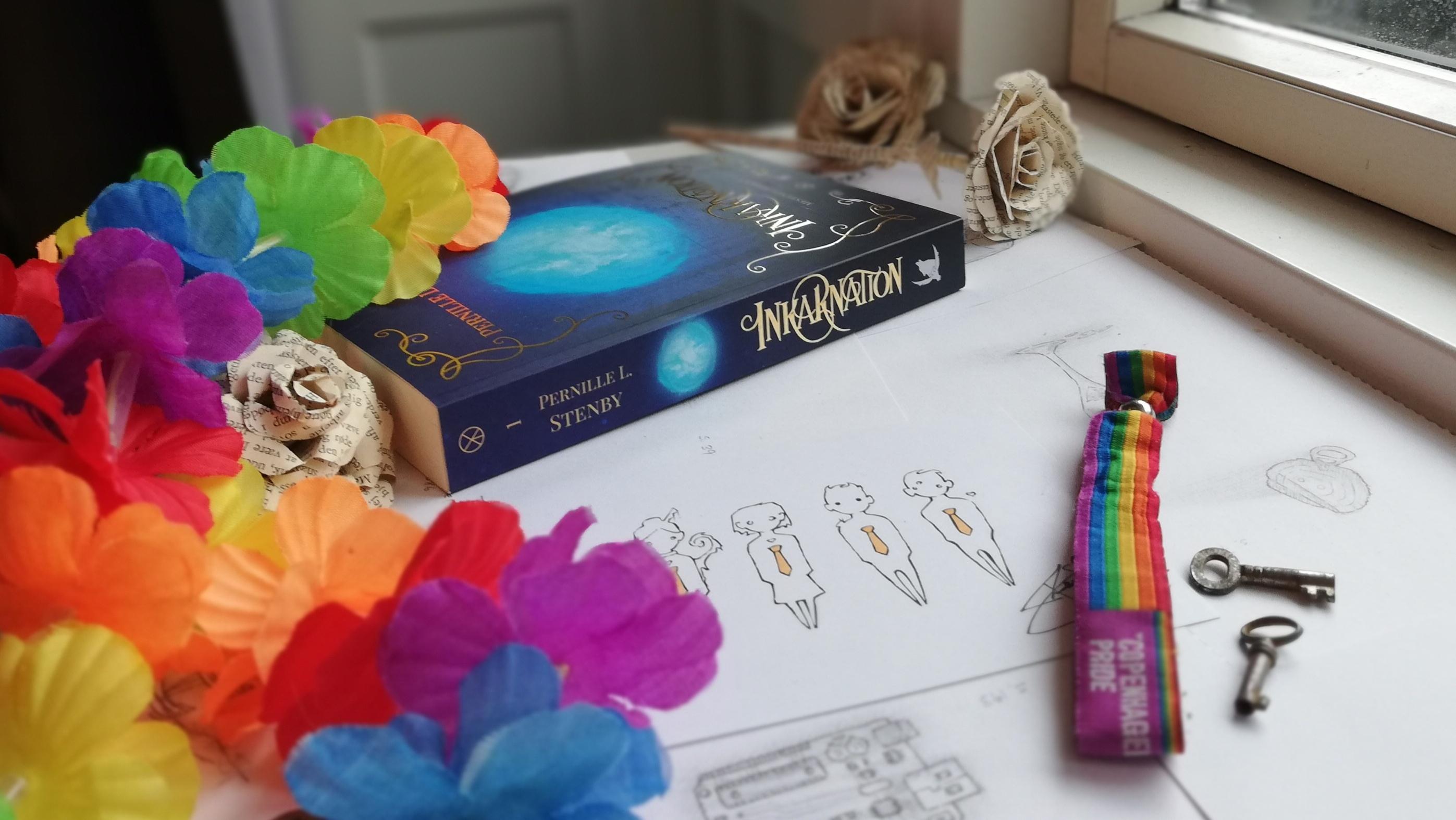 Regnbuefarver og fantasy. Pernille har selv været ude med kameraet for at vise sin bog frem.